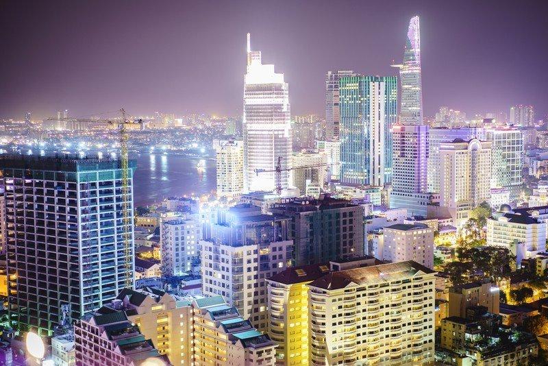 The Travel Ninjas enjoying the night life in Saigon.