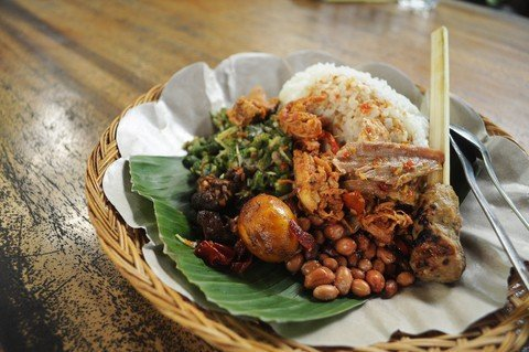 Nasi Campur in Indonesia