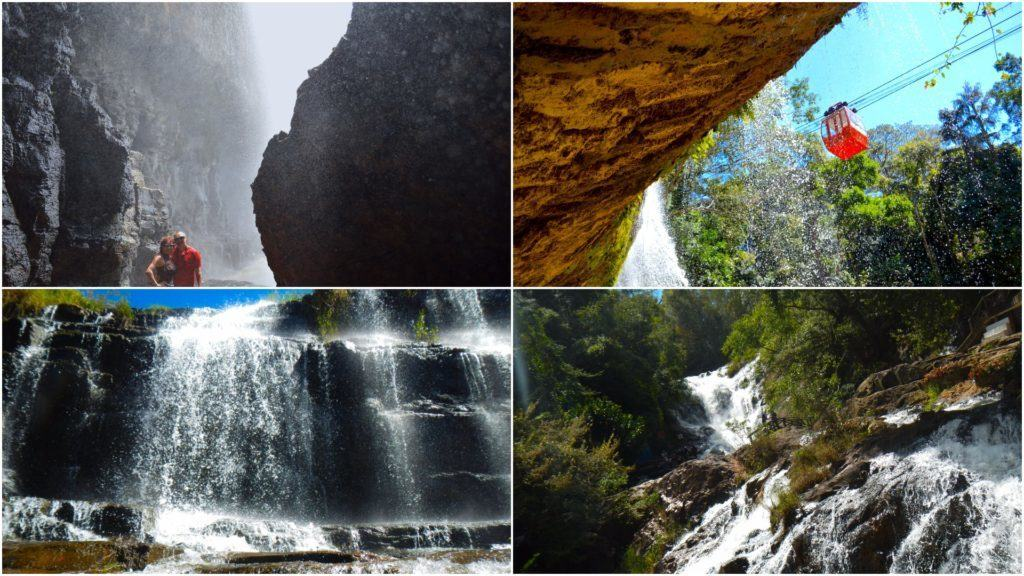 The Travel Ninjas visiting 4 of the most beautiful waterfalls in Dalat, Vietnam