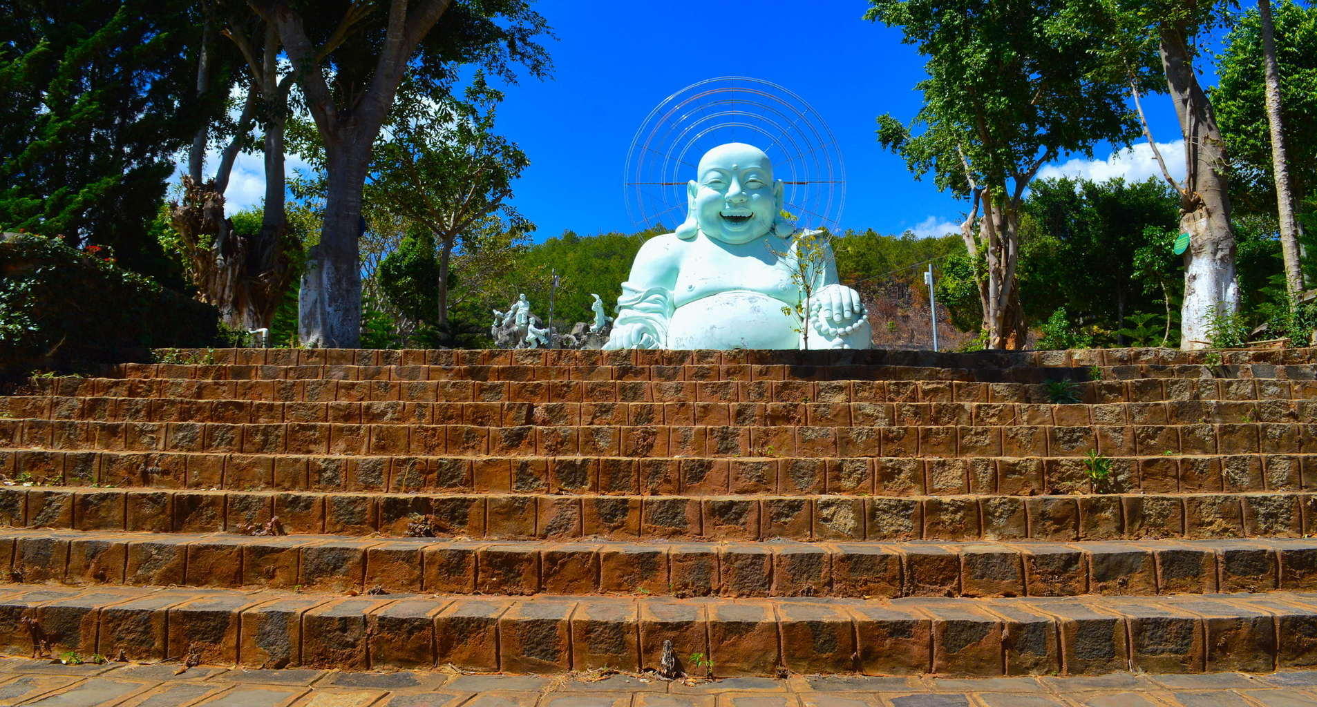 The Travel Ninjas Visiting the Happy Buddha in Dalat, Vietnam