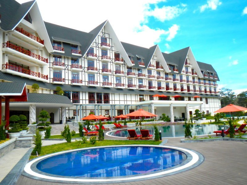 The Travel Ninjas at the Swiss Belresort in Dalat,Vietnam