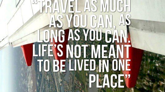 """The Travel Ninjas Travel Quote """"Travel As Much As You Can"""""""