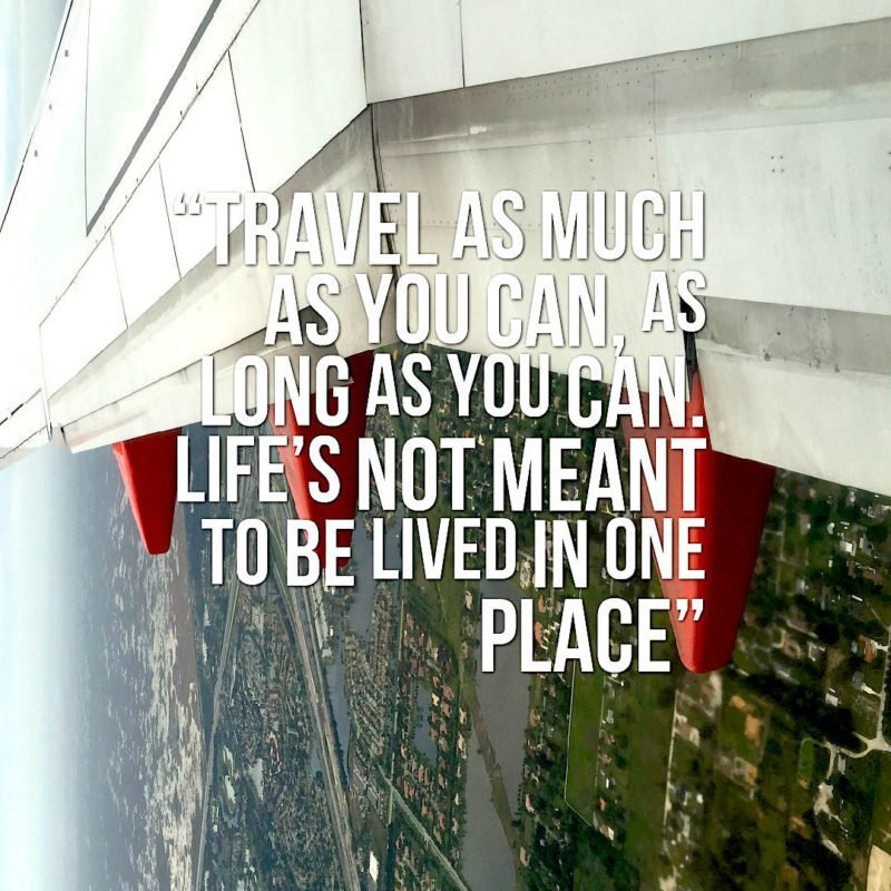"The Travel Ninjas Travel Quote ""Travel As Much As You Can"""