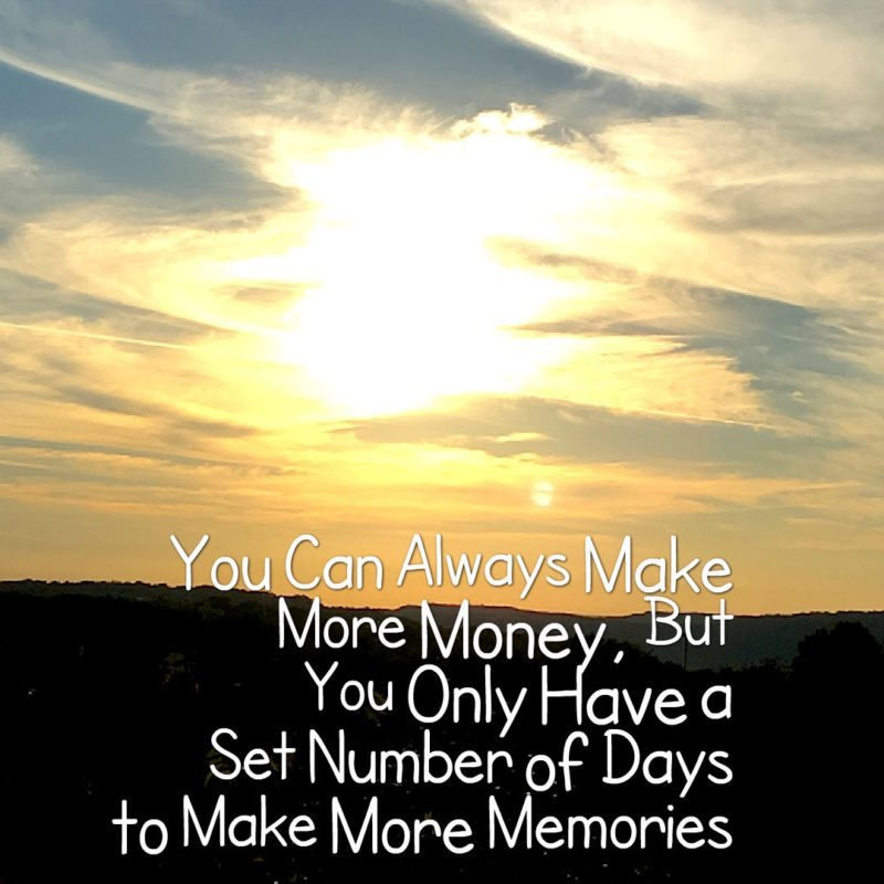"The Travel Ninjas Travel Quote ""You Can Always Make More Money"""