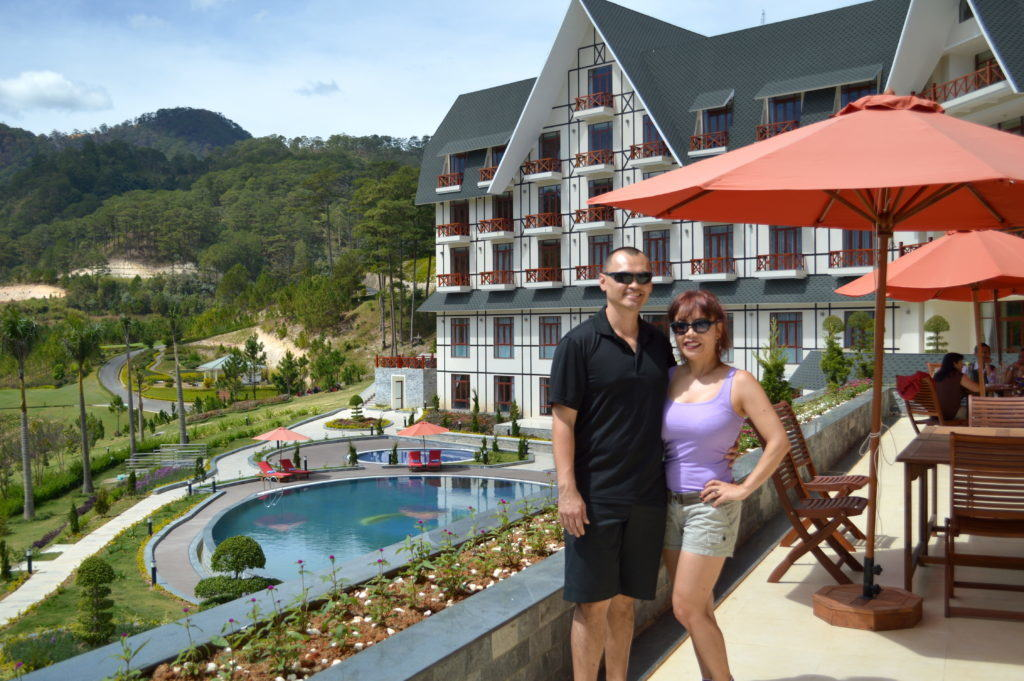 The Travel Ninjas at the Swiss Belresort in Dalat, Vietnam