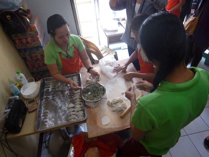 Fresh Handmade Dumplings in Binondo, Manila Philippines