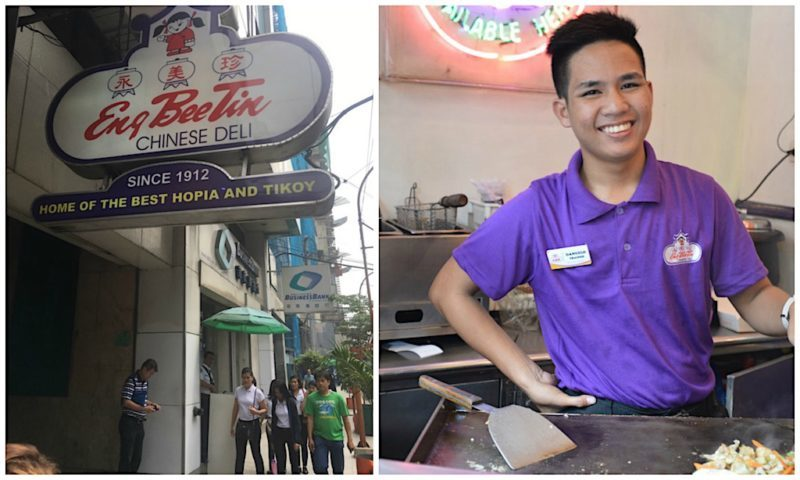 Friendly staff in Binondo, Manila Philippines
