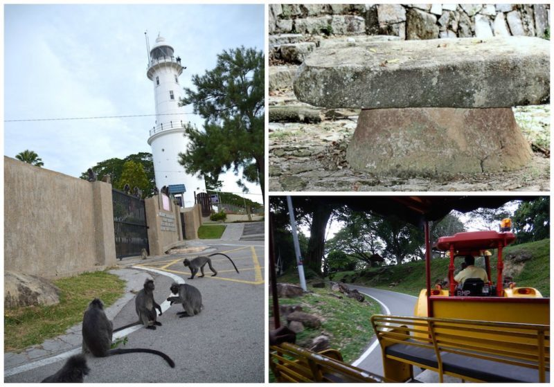 Lighthouse and Real Executioner's Stone at Bukit Melawati near Kuala Lumpur, Malaysia