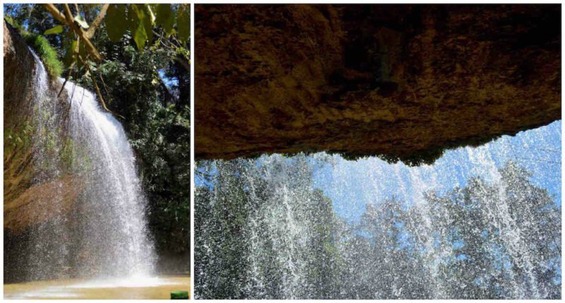 The view from behing the Prenn Waterfall in Da Lat, Viet Nam