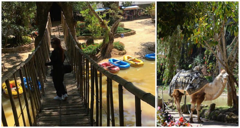 Amusements at the Prenn Waterfall in Da Lat, Viet Nam