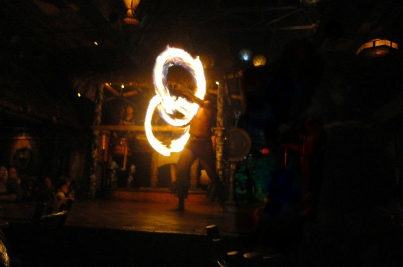 Fire Dancer on Boracay Island, Philippines