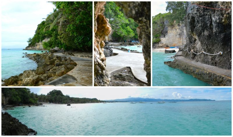 Coastal Walk to Diwindi Beach in Boracay Island on the Philippines
