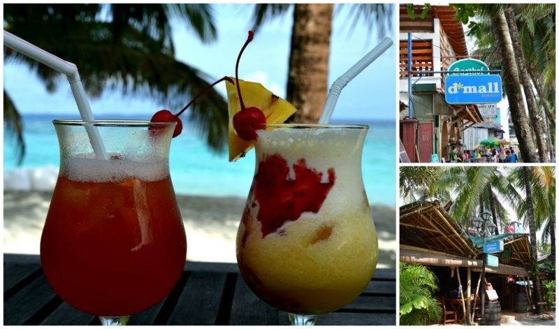Smoothies and Shopping at D'Mall on Boracay Island, Philippines