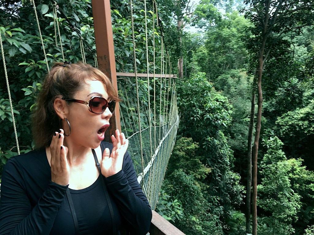 Enjoying our time at Taman Negara near Kuala Lumpur in Malaysia