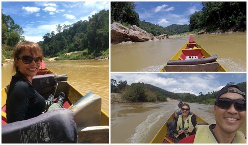 Boating down the Tembeling River at Taman Negara near Kuala Lumpur in Malaysia