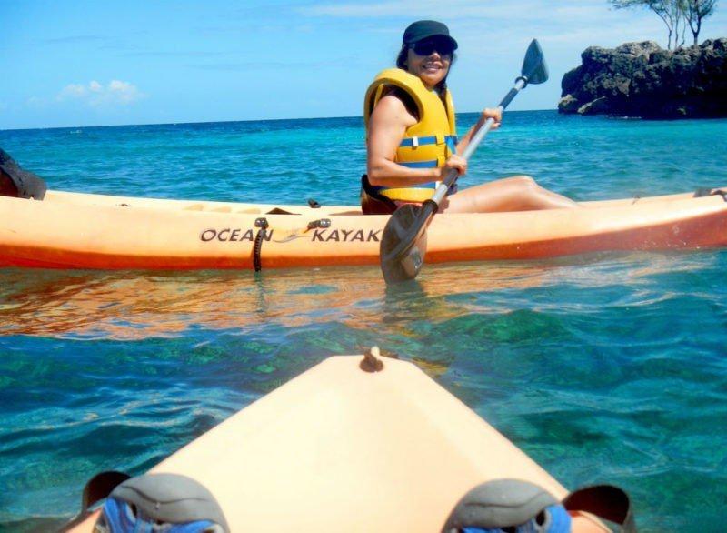 Kayaking along Pandawa Beach- Adventurous Things to do in Bali # 3