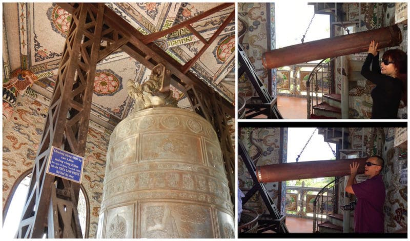 Ring the Biggest Bell in Vietnam at the LINH PHUOC PAGODA in Da Lat, Vietnam