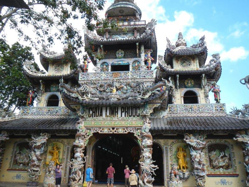Linh Phuoc Pagoda in Da Lat, Vietnam