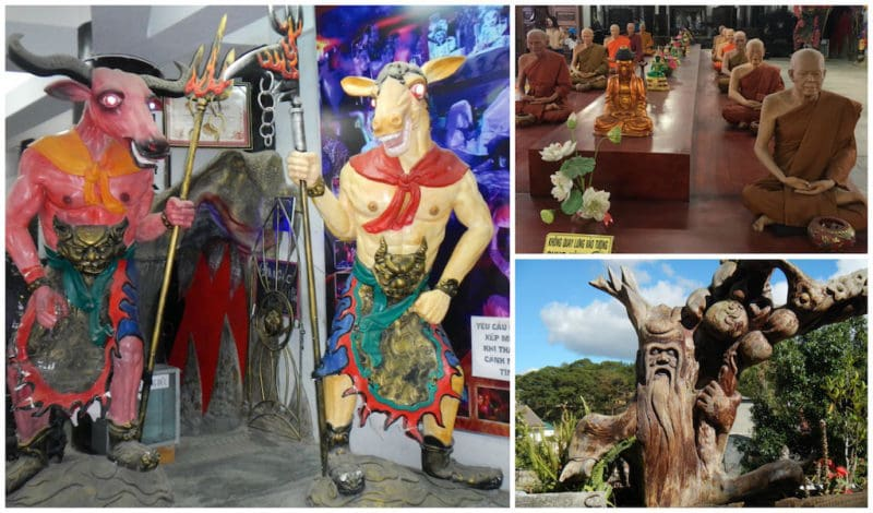 Haunted House, Wax Museum, and Wacky Art at the LINH PHUOC PAGODA in Dalat, Vietnam