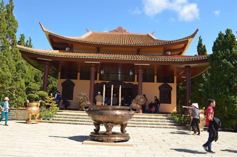 The Main Temple of Truc Lam Monastery in Dalat, Vietnam