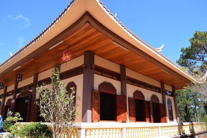 The Main Meditation Hall at Truc Lam Monastery in Dalat, Vietnam