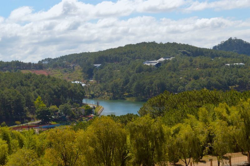 A View From the Monastery at Truc Lam Monastery in Da Lat, Vietnam. This is Central Vietnam in Southeast Asia.