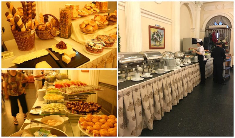Breakfast Buffet at the Hotel Continental Saigon in Ho Chi Minh City Vietnam