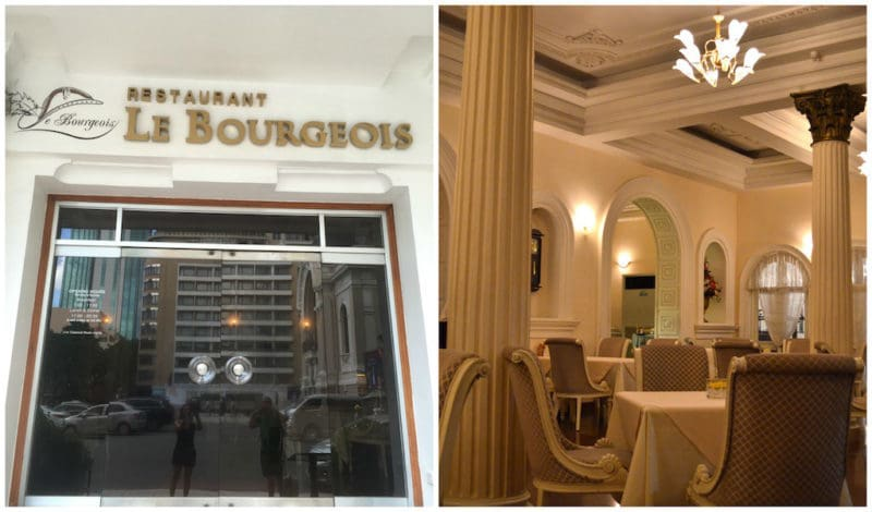 Le Bourgeois Restaurant at the Hotel Continental Saigon in Ho Chi Minh City Vietnam