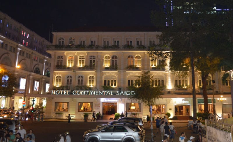 Hotel Continental in Ho Chi Minh City, Saigon, Vietnam