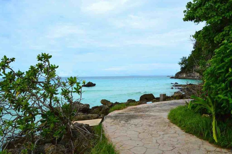 Path to Diwindi Beach Station 1 on Boracay Island in the Philippines