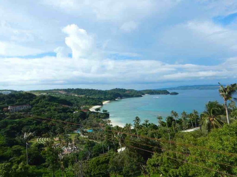 View From Mount Luho Station 1 on Boracay Island in the Philippines