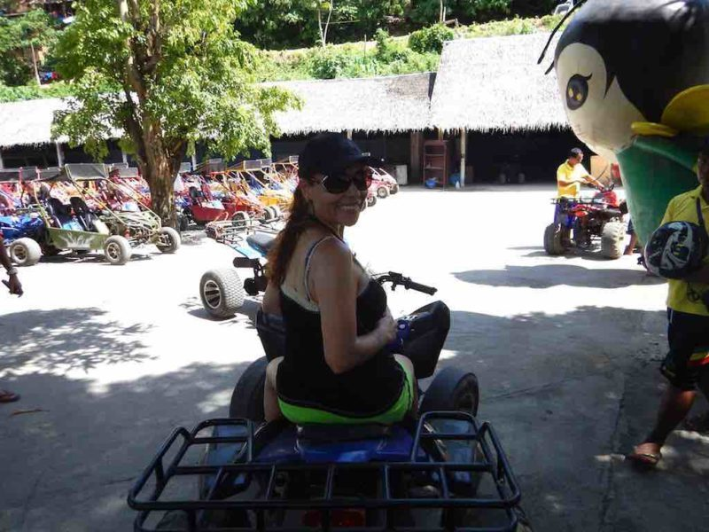 ATV ride up Mt. Luho Station 1 on Boracay Island in the Philippines