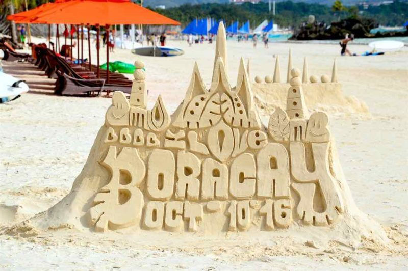 A Famous Boracay Sandcastle - Station 1 White Beach Boracay Islands in the Philippines