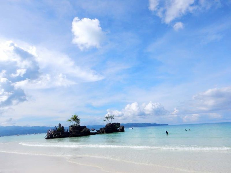 Gorgeous Blue waters - Station 1 White Beach Boracay Islands in the Philippines