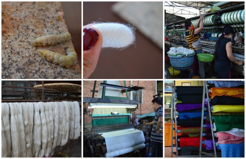 How Silk Goes From Ugly to Beautiful in Da Lat Vietnam located in Central Vietnam