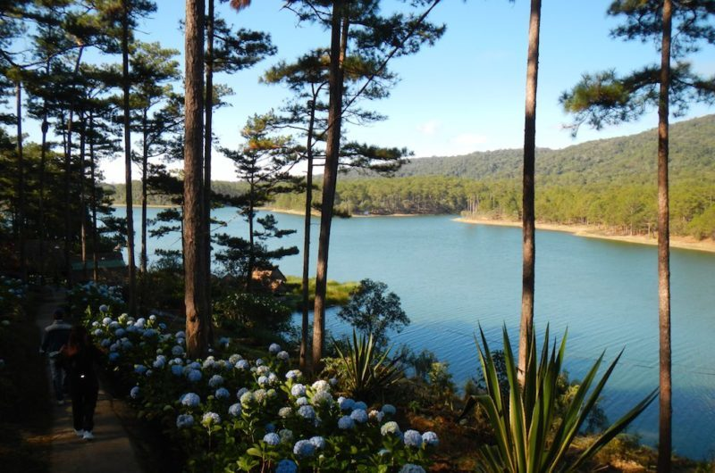 Hiking Around The Lake in Da Lat Vietnam located in Central Vietnam