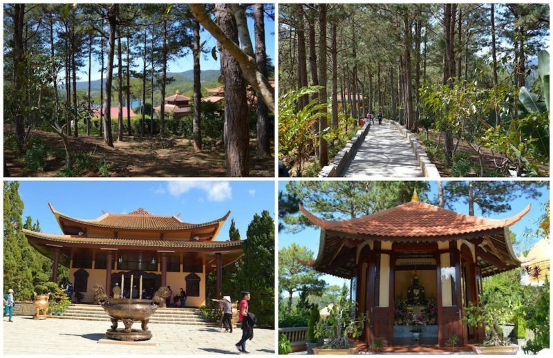 Lots of pathways to stroll around the monastery located in Da Lat Vietnam also known as Dalat Vietnam in central Vietnam.