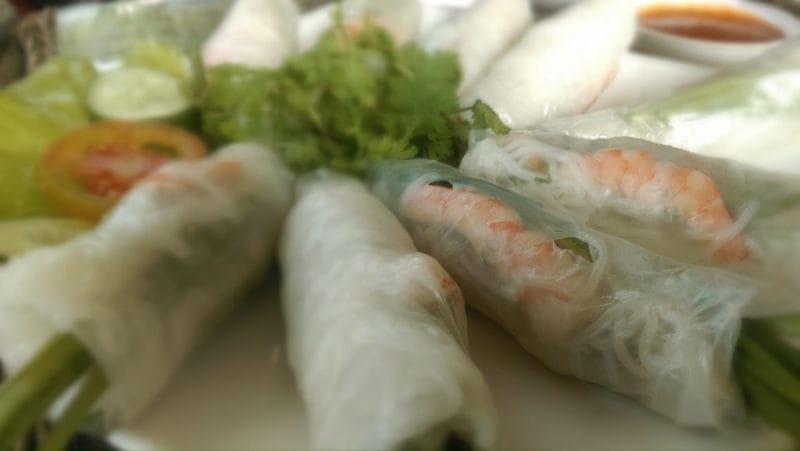 Fresh Spring Rolls are a Vietnamese Classic in Da Lat Vietnam