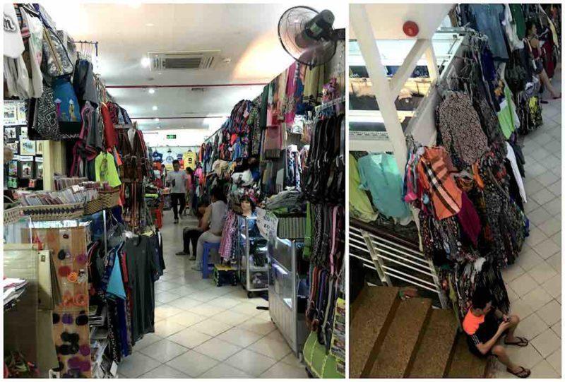 Clothes stalls inside Saigon SquareShopping in Saigon Ho Chi Minh City Vietnam