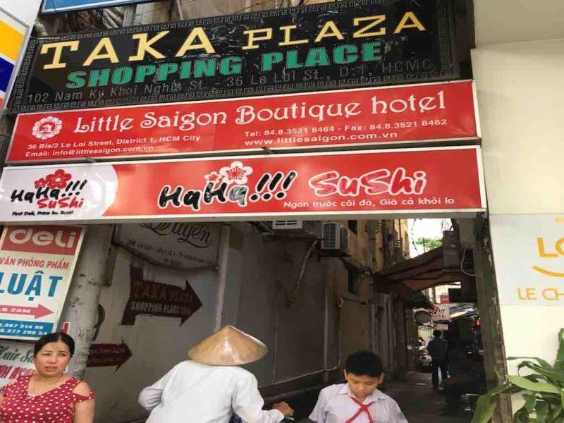 Street Entrance to Taka PlazaShopping in Saigon Ho Chi Minh City Vietnam