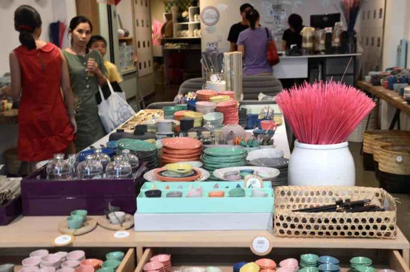 Modern Vietnamese Home Goods in SadecShopping in Saigon Ho Chi Minh City Vietnam