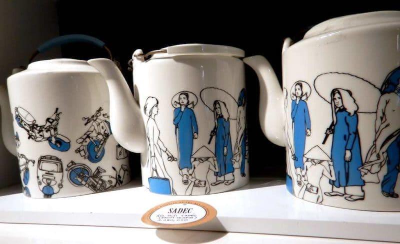 Handmade / Hand-painted Tea PotsShopping in Saigon Ho Chi Minh City Vietnam