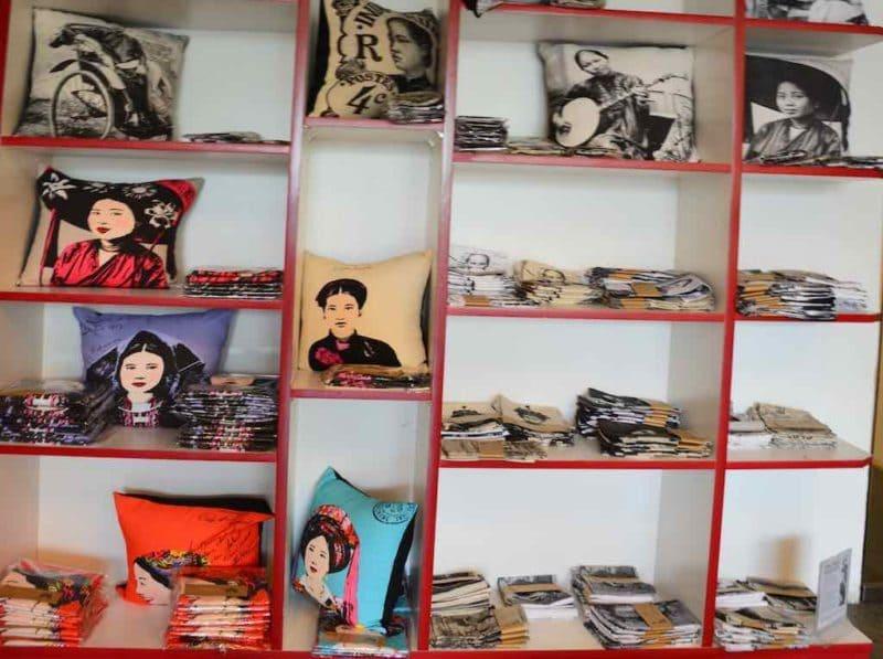 Pillows at hip shops Shopping in Saigon Ho Chi Minh City Vietnam