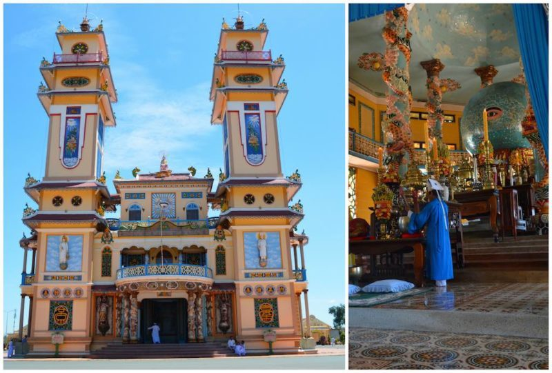 Things to do in Ho Chi Minh. Cao Dai Temple near Saigon Vietnam