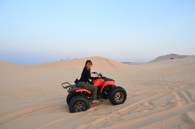 Things to do in Ho Chi Minh. ATV on the white Sand Dunes in Mui Ne, Vietnam