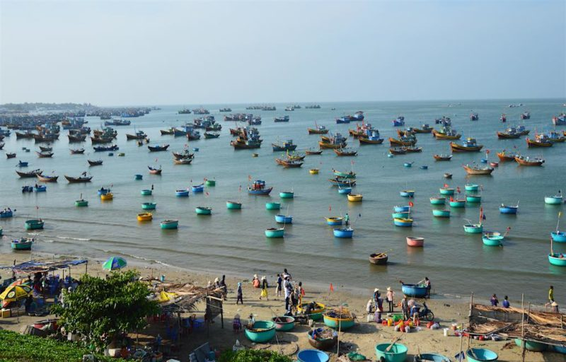Things to do in Ho Chi Minh. The fishing village in Mui Ne Vietnam.