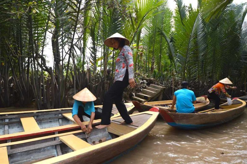 Things to do in Ho Chi Minh. The Mekong Delta near Ho Chi Minh City Vietnam