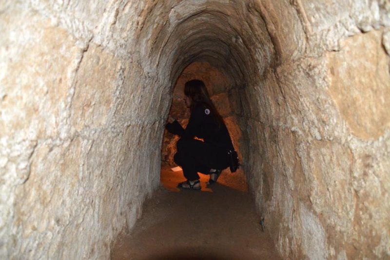 Things to do in Ho Chi Minh. Inside one of the tunnels at Cu Chi Tunnels Vietnam