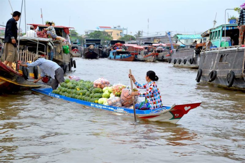 Things to Do in Vietnam - Floating Market on the Mekong Delta