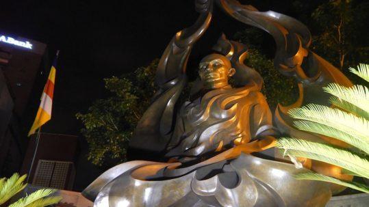 The Burning Monk memorial in Saigon Vietnam Ho Chi Minh